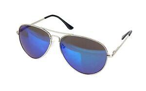 Pilotenbrille silber blau mit leicht verspiegelten Gläsern von Ella Jonte UV 400 unisex kePvD4cad9