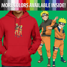 Authentic Naruto Shippuden Anti Leaf Cloud Zip Up Hoodie Anime Manga S-3Xl