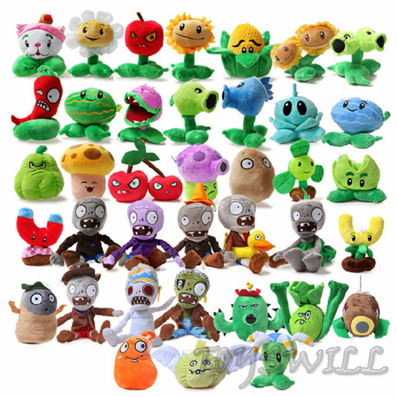 Cute Kids Baby Birthday Gift Plants Vs Zombies Soft Plush PVZ Toy Stuffed Doll