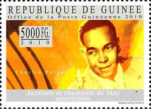 Guinea postfrisch MNH Charlie Parker Usa Musiker Jazz Musik Saxophonist Bebop
