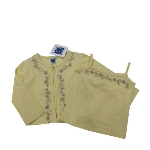 92,104,128 Eisend Jacke Shirtjacke T-Shirt Top 2-Teiler Gelb Mädchen Gr