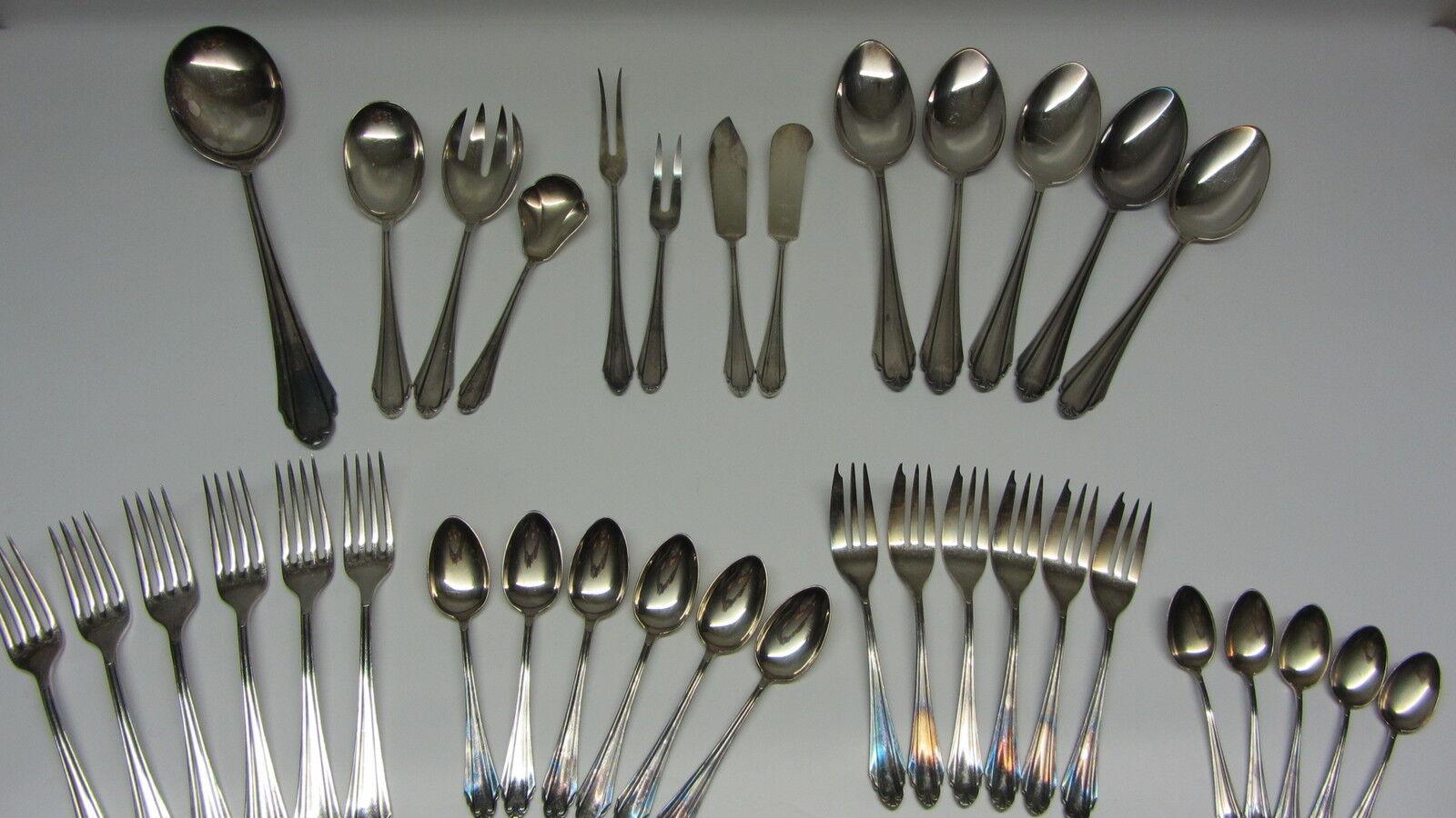 Konvolut alte Silberauflage Silber Silberschrott Silberschrott Silberschrott Martin 90 er Silber 36 Teile 26d6cd