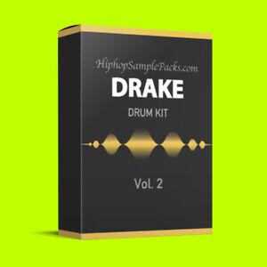 Details about Drake DRUM KIT Vol  2 Hip Hop SAMPLE PACK TRAP 808 Wav FL  Studio, Ableton, Logic
