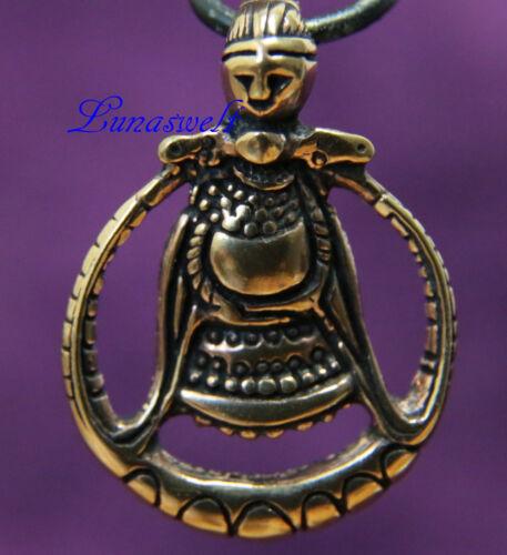 Band Anhänger Viking Freya Fruchtbarkeitsgöttin der Wikinger Bronze inkl
