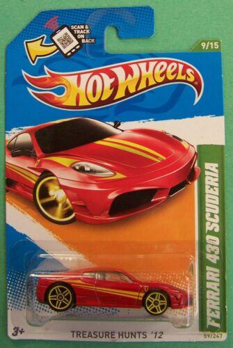 2012 Hot Wheels Treasure Hunt Ferrari 430 Scuderia #59 Choice Lot