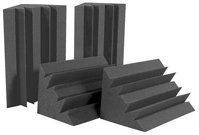 8PCS Corner Acoustic Sponge Charcoal Bass Trap Sound Insulation Foam