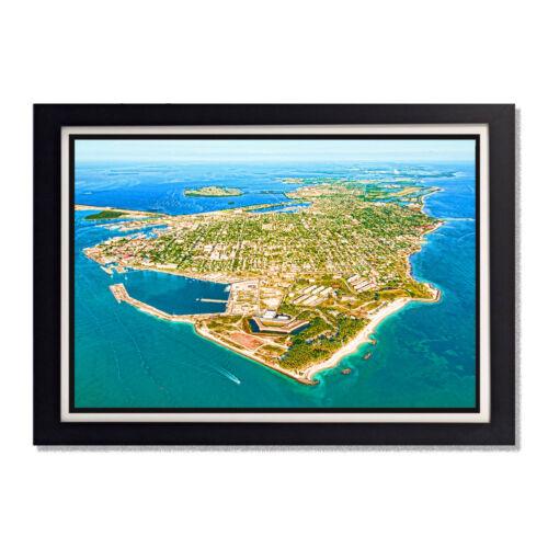 Key West Aerial Florida Keys Blue Water Key West Glossy Poster 24 x 36in