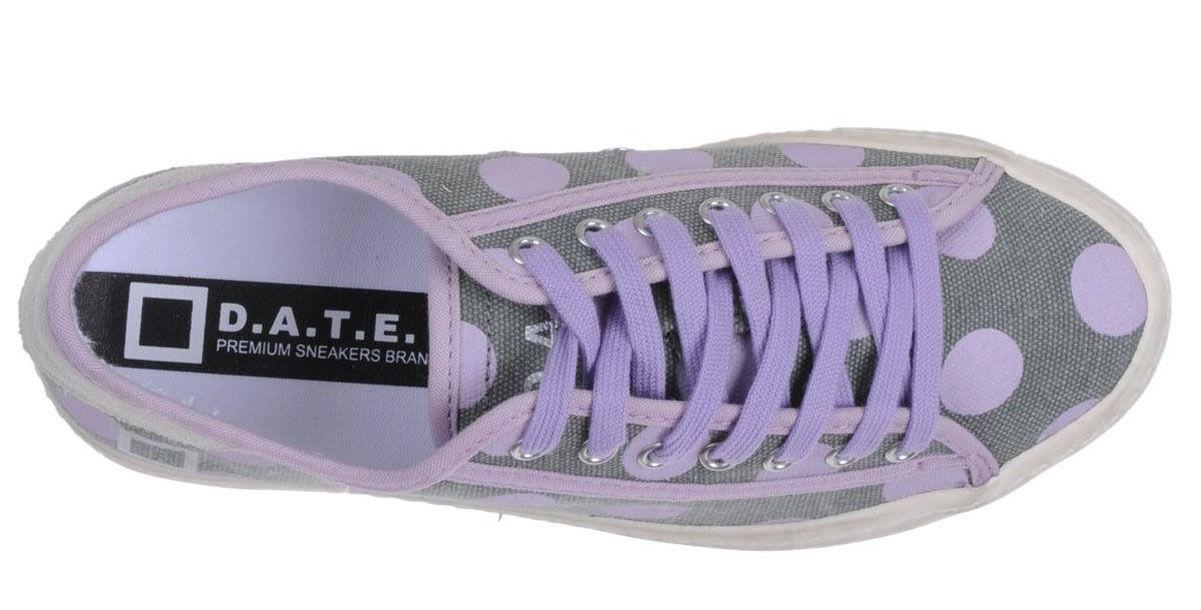 D.A.T.E. Warm scarpe da da da ginnastica scarpe date Designer grigio Pfturple Polka Dot Dimensione 8   39 N 485aea