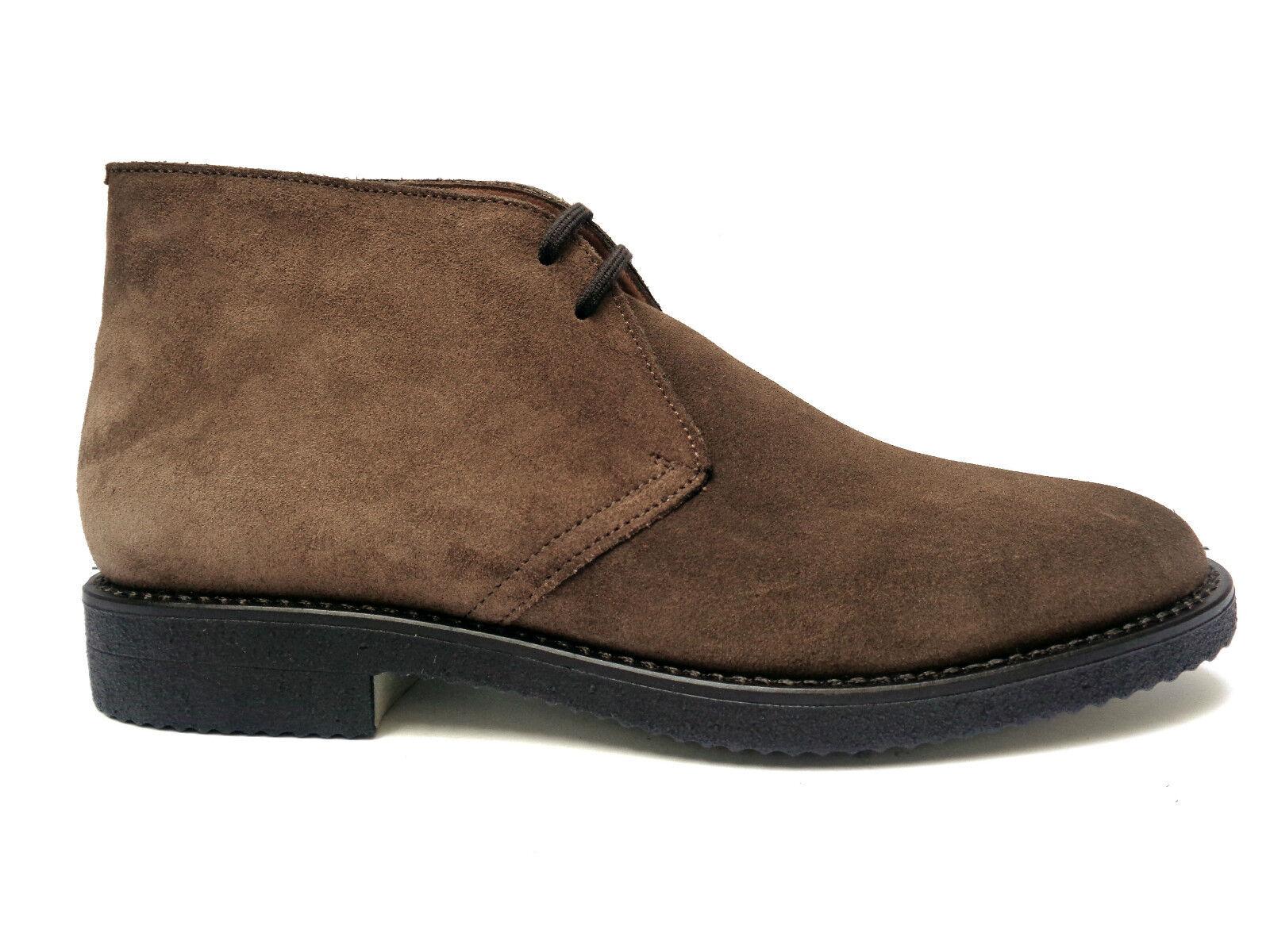 Scarpe casual da uomo  Antica Cuoieria scarpe casual da uomo in camoscio col. Gianduia fondo in para