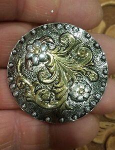"""Saddle Concho [2] EA 1 3-4"""" Sterling Argent .925 plaque Main Gravé Post backz 52-afficher le titre d`origine 9NXFW2KB-07160138-133707548"""