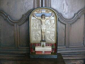 Raritaet-ca-100-Jahre-alter-Hausaltar-mit-Reliquien-Altar-gemarkt-S-W-um-1920
