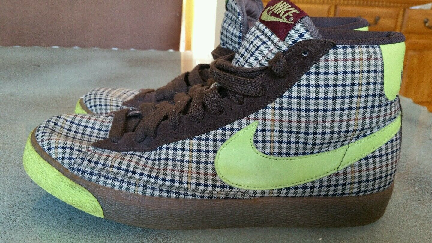 Nike Blazer Mid 2008 Release Mens Size 11 RARE Neon Cinder Tweed Vintage RARE 11 12e284