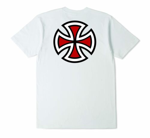 Independent Bar Cross Youth Tee White