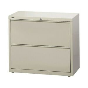 Staples Commercial 2 Drawer Lateral File Cabinets 36 Wide Putty