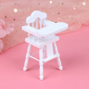 1-12-Dollhouse-Miniature-Wooden-Baby-Dining-High-Chair-Doll-House-Furniture-Jf