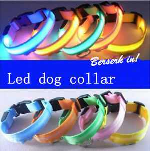 Lumiere-LED-Collier-Chien-Compagnie-Nylon-Colliers-Chat-Clignotant-Lumineux-Nuit