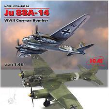 ICM 1/48 JUNKER JU 88A-14 WWII GERMAN TWIN ENGINE BOMBER KIT