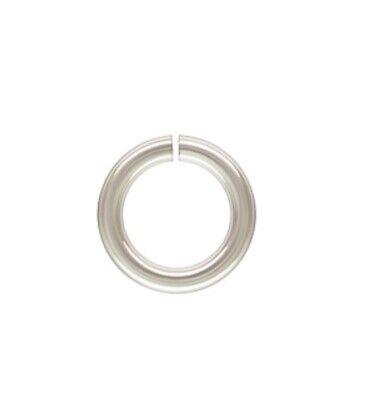 925 Sterling Silver 7mm 18ga Open Jump Rings 100 pcs #5503-7