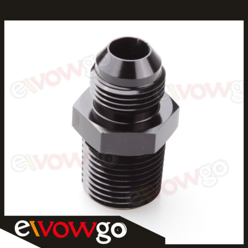 10AN AN-10 AN10 To 3//4/'/' NPT Straight Adapter Fitting Black