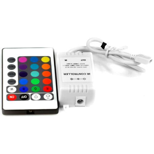 Remote Waterproof Black PCB 5M 300LEDs 5050 SMD RGB LED Strip Light Power