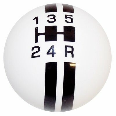 BLACK//WHITE VINTAGE SHIFT KNOB FOR 5 SPEED SHORT THROW SHIFTER 10X1.25 K07