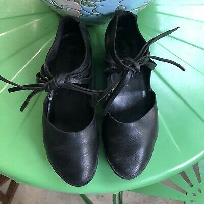 Trippen Black Leather Shoes With