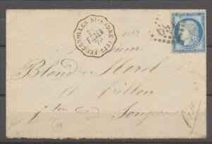1876-Lettre-N-60-obl-Conv-Station-FEUGEROLLES-St-Andre-CALVADOS-13-P2705
