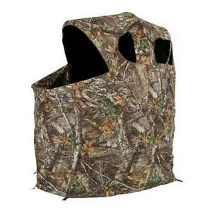 Ameristep 54x45 Polyester Realtree Edge Camo Tent Chair Hunting Blind (Open Box)