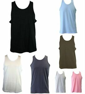 Men-039-s-Plain-Basic-Singlet-Tank-Top-T-Shirt-Gym-Sports-Black-White-S-M-L-XL-2XL