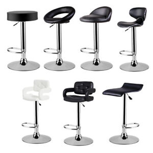 Brilliant Details About Set Of 2 Hydraulic Swivel Faux Leather Breakfast Bar Pub Stools Chair Kitchen Uk Beatyapartments Chair Design Images Beatyapartmentscom