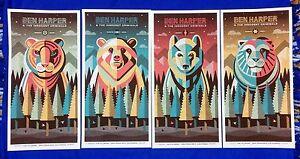 DKNG-Ben-Harper-amp-The-Innocent-Criminals-4-Poster-Fillmore-Set-2015-S-N-230