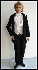 Barbie/KEN Clothes/Fashion BLACK & WHITE TUXEDO W/ Shoes Nice NEW!