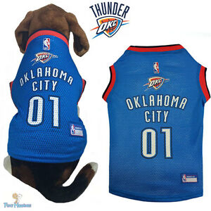 Nba Pet Fan Gear Oklahoma City Thunder Jersey Shirt Tank