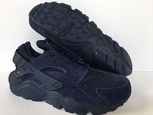 Nike Air Huarache Run iD NikeiD Blue Leather Men s 777330 989 Sz 8 ... d12fd7a51