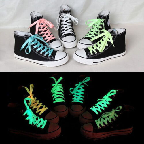 60-140cm 1Pair Sport Luminous Shoelace  Glow In The Dark Fluorescent Shoe Laces