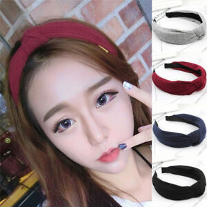 Fashion Korean Women Girl Bow Knot Wide Bow Ribbon Headband Hair ... 4bd676a200e