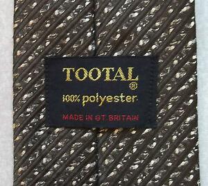 Vintage-TOOTAL-Tie-Mens-Necktie-Retro-Fashion-TEXTURED-BROWN-STRIPED