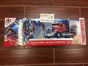Nouveau Transformers Optimus Prime Platinum Edition Remorque & Balayage Latéral 2 Jours Get 630509244508