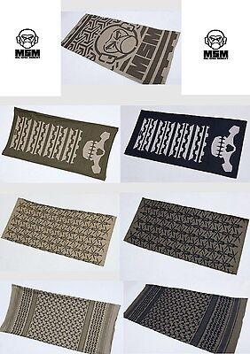 Mil Spec Monkey MSM Multiwrap-Logo-Skull-Spartan-Shemagh-Dusty Brown-Olive Drab