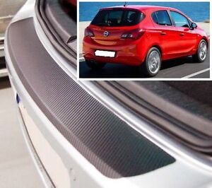 Vauxhall-OPEL-CORSA-E-3-5-porte-CARBONE-STYLE-Pare-chocs-arriere-protection