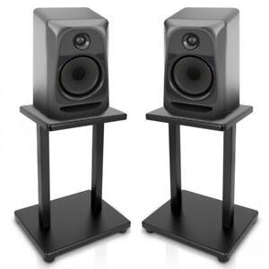 PYLE-PSTND18-Home-Studios-Set-of-2-Speaker-Stands-Bookshelf-Monitor-Black