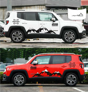 Graphics Vinyl Snow Mountain Car Sticker Bonnet Decal For