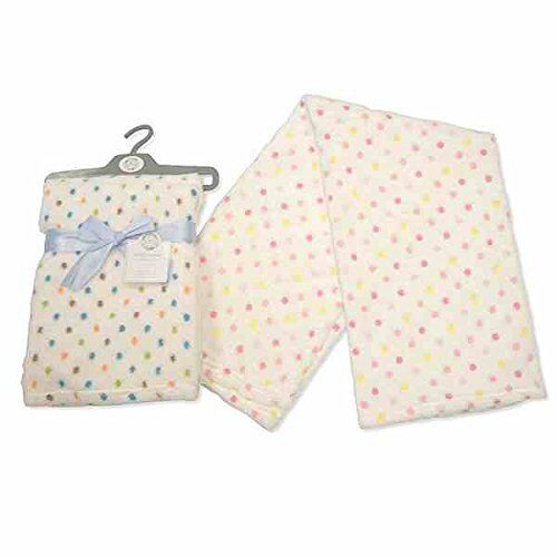 Premium Luxury Baby Wrap Blanket White Spotty Design Gift Ebay