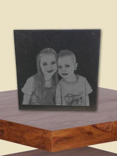 Fotogravur,Weihnachtsgeschenk Bildgravur Lasergravur Stein Familienanlässe