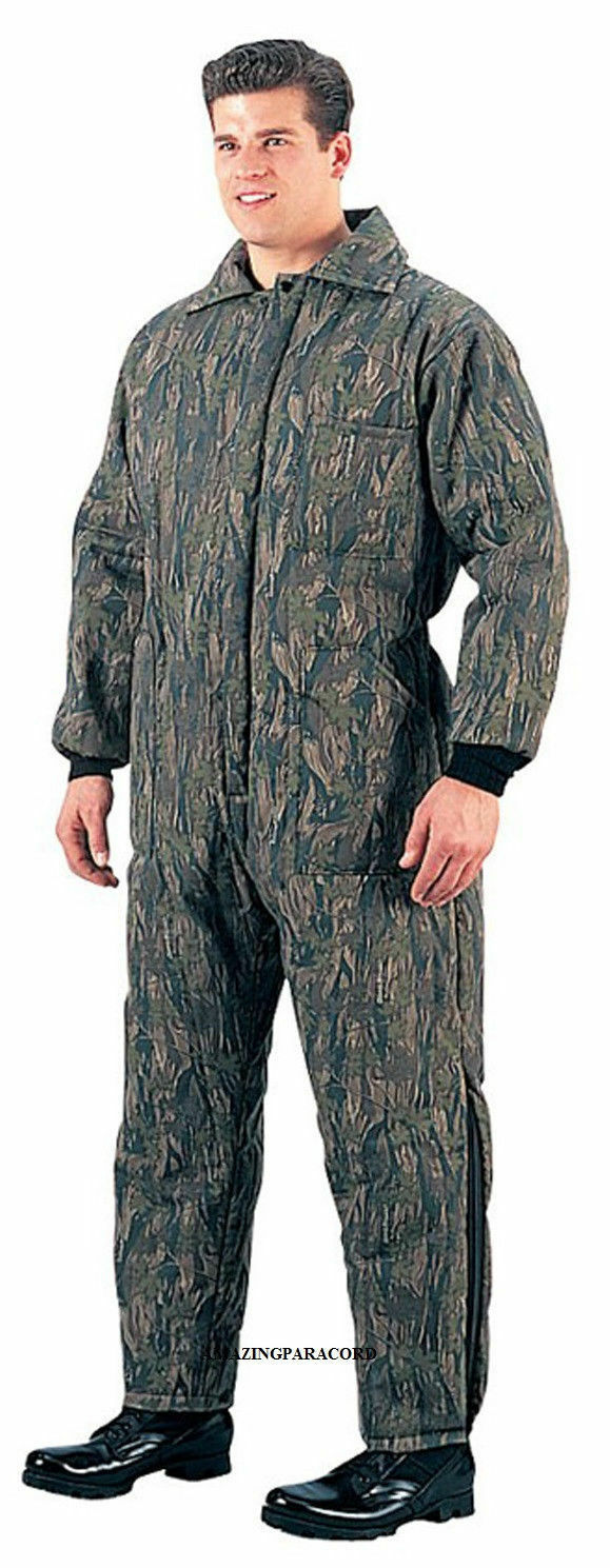 Military Insulated Coverall Mechanic Camo Winter Coveralls Heavy Winter Camo Overalls 4f942a