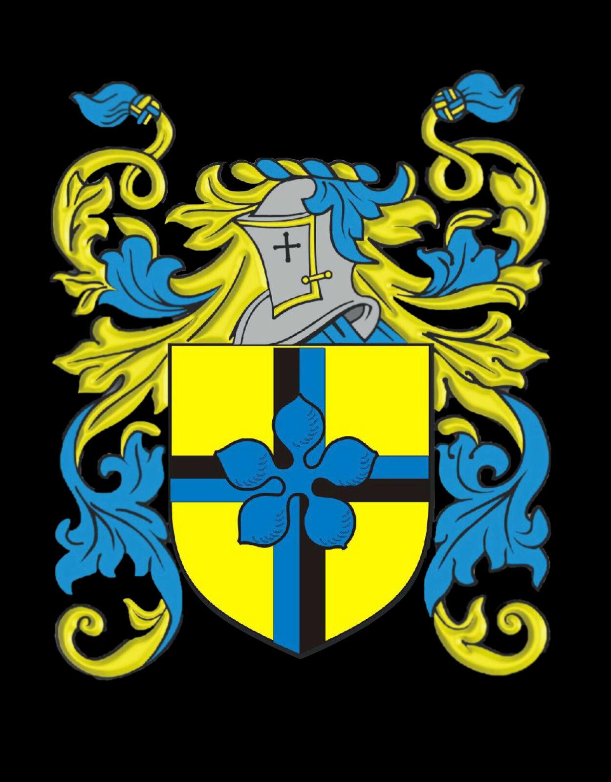 Hoby Galles Galles Galles STEMMA DI FAMIGLIA cognome STEMMA Gemelli custodia personalizzata 9b814b