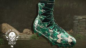e8d2421cd UNDER ARMOUR HIGHLIGHT MC LE DIGITAL ARMY CAMO GREEN TAN FOOTBALL ...