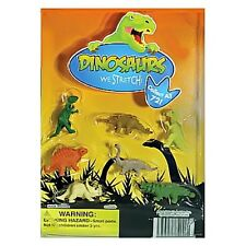 "DINOSAURS ""We Stretch"" 1""  Stretchy Squishy Dino Figurines Collectible Set of 7"