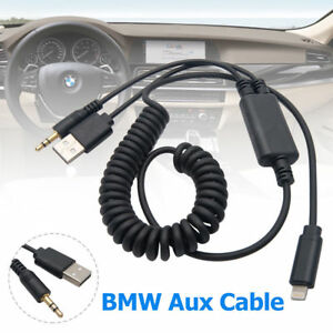 competitive price c2953 07fde Details about BMW MINI Y Cable Lead USB Audio AUX Adapter Interface For  Ipod Iphone 5 6 7 8 X
