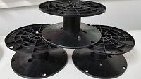 Lot Of 45 Black Plastic Spool Cable Wire Reel 6 1/2  Dia X 3 H With 3/4 Arbor